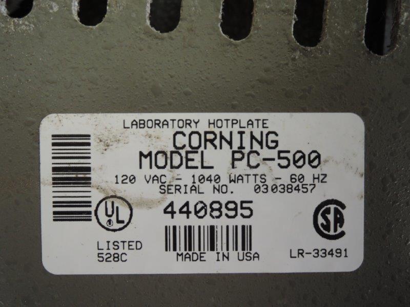 CORNING MODEL PC-500 HOT PLATE
