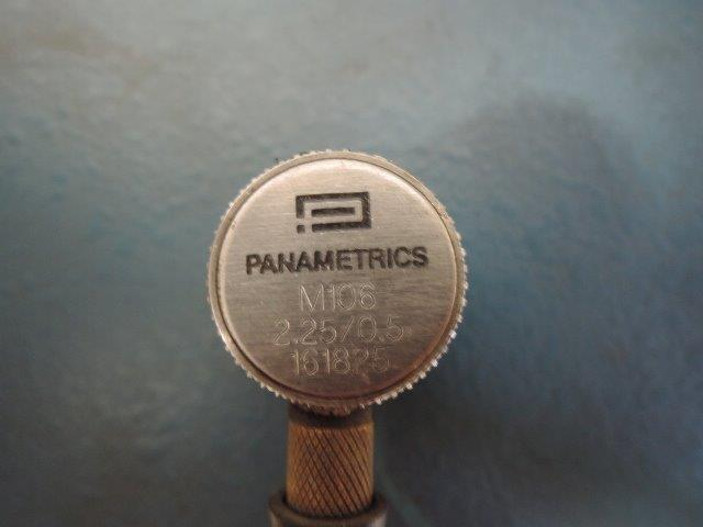 "PANAMETRICS ULTRASONIC THICKNESS TESTER S/N 4914 WITH 2.25 TO 0.5"" PROBE"