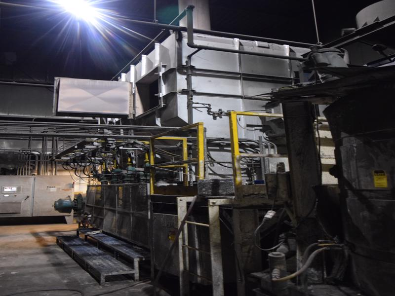 2011 gudgeon model tf12000 6 ton per hour thermal reclaim system with 2- blowers, thermal reclaimer, controls,