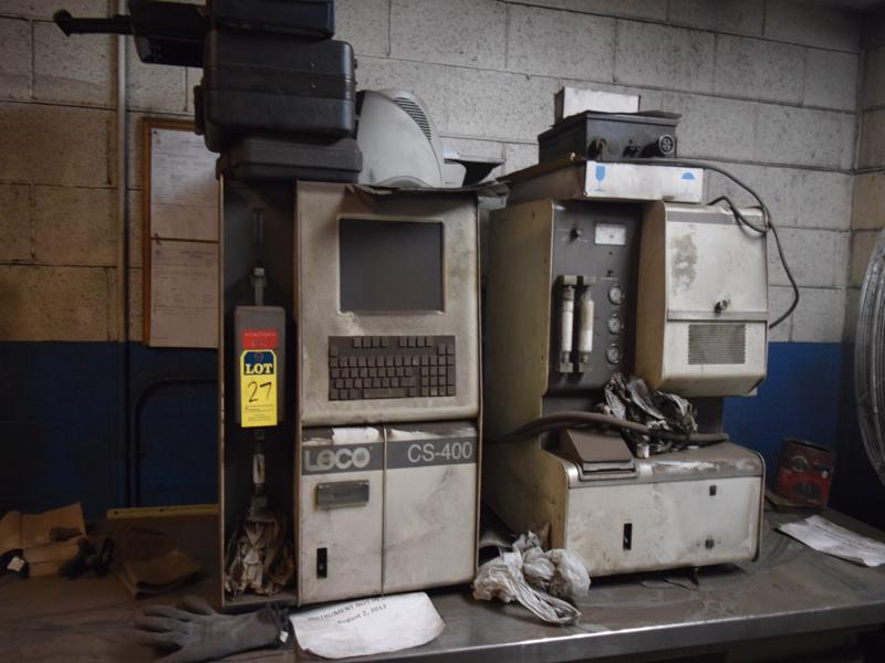 leco model cs-400 carbon Sulphur determinator s/n 605-500-400 with hf400a furnace (items not in service)