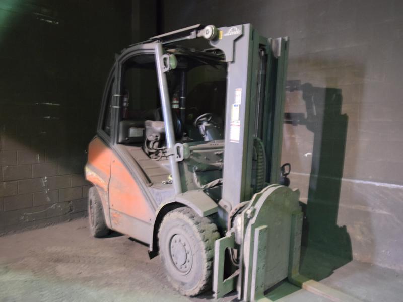 2012 linde model h50t l/p powered fork lift truck s/n h2x395c02441, 9850 # capacity, 178