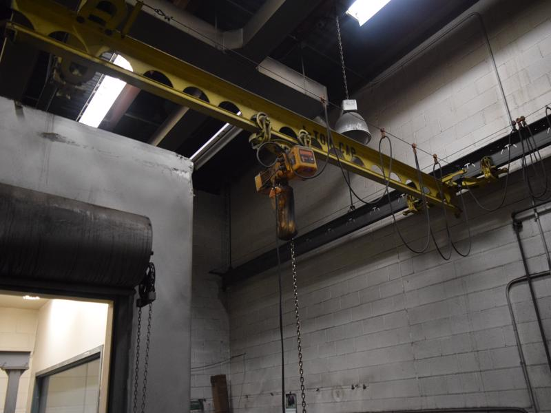 Harrington 1 ton electric hoist with pendent controls and 15' bridge and 25' runway