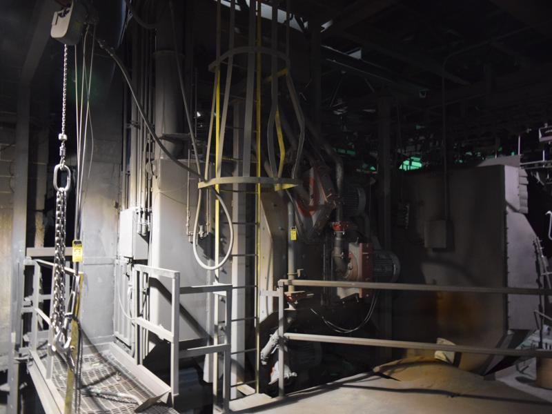 jet wheel blast spinner hanger monorail blast system with 38