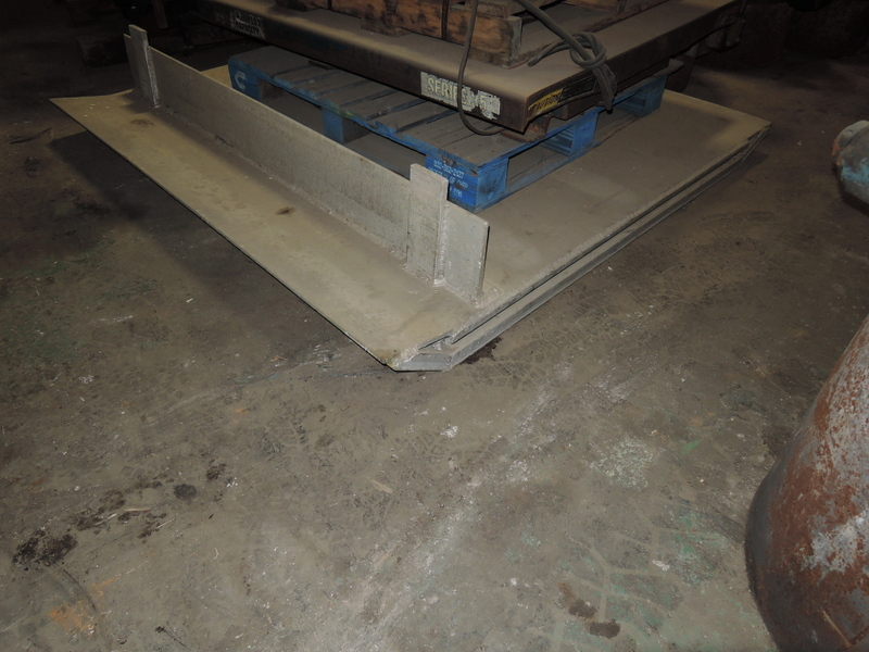 WAGLINER 6 X 6 DOCK PLATE, MODEL AT157272,  15000# CAPACITY