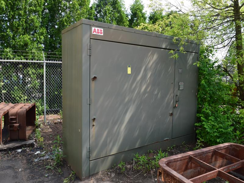 1994 spare Inductotherm furnace transformer, 3300 kva, 3 phase, type rsl, class oa, 26,400 volt primary, 575 volt secondary, s/n taa4182-0101,  high side taps, 27,720 to 25,080, 6.79 impedance, 65 deg