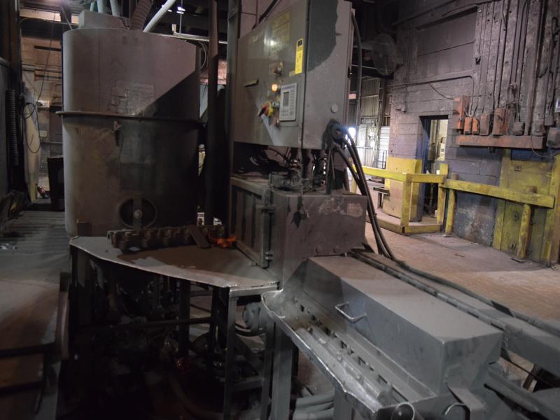 shaft blast machine with Allen bradley micro logic plc