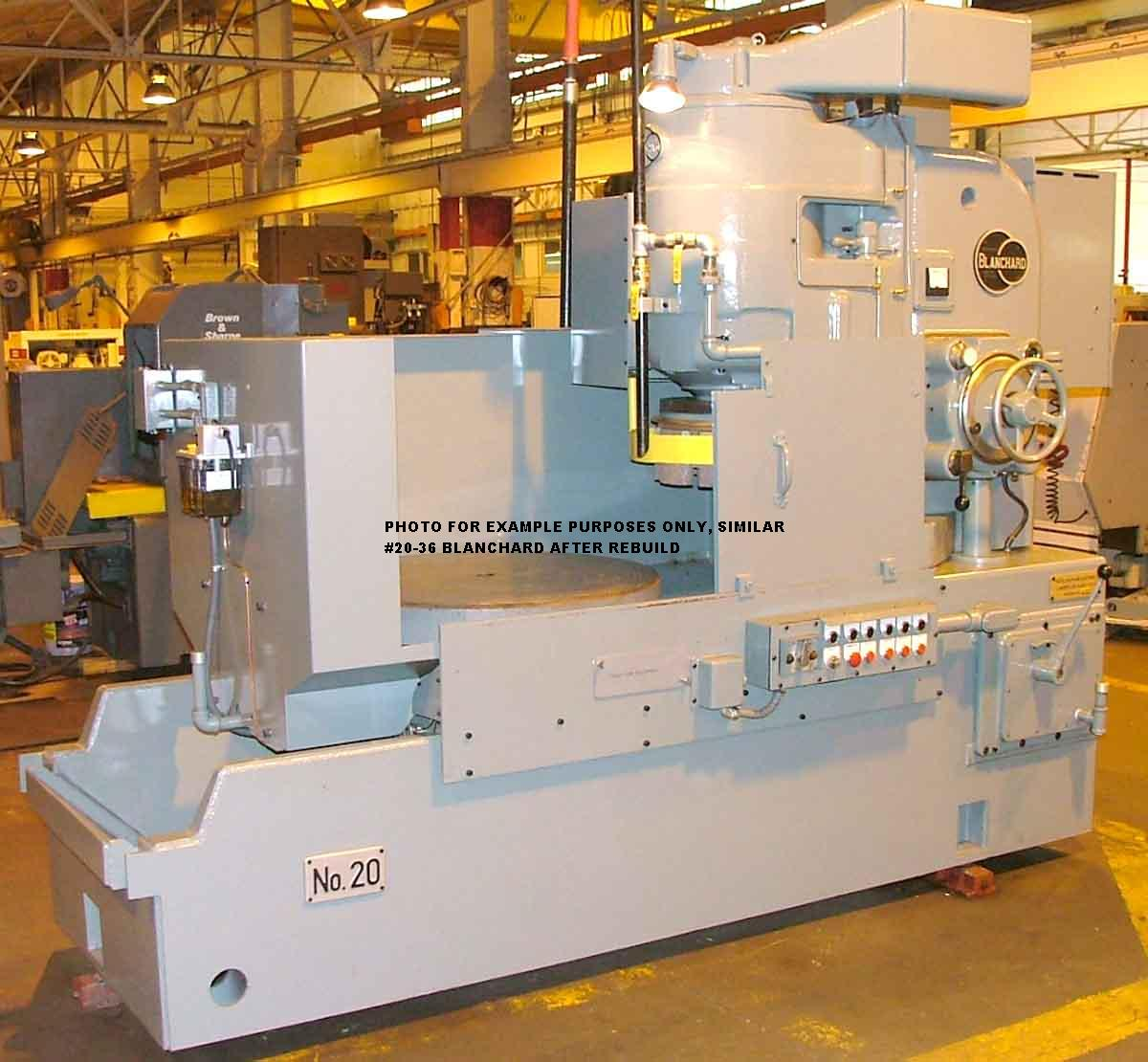 "Blanchard #20D-36, 36"" Vertical Rotary Surface Grinder Remanufactured W/ 1 Yr Warranty"