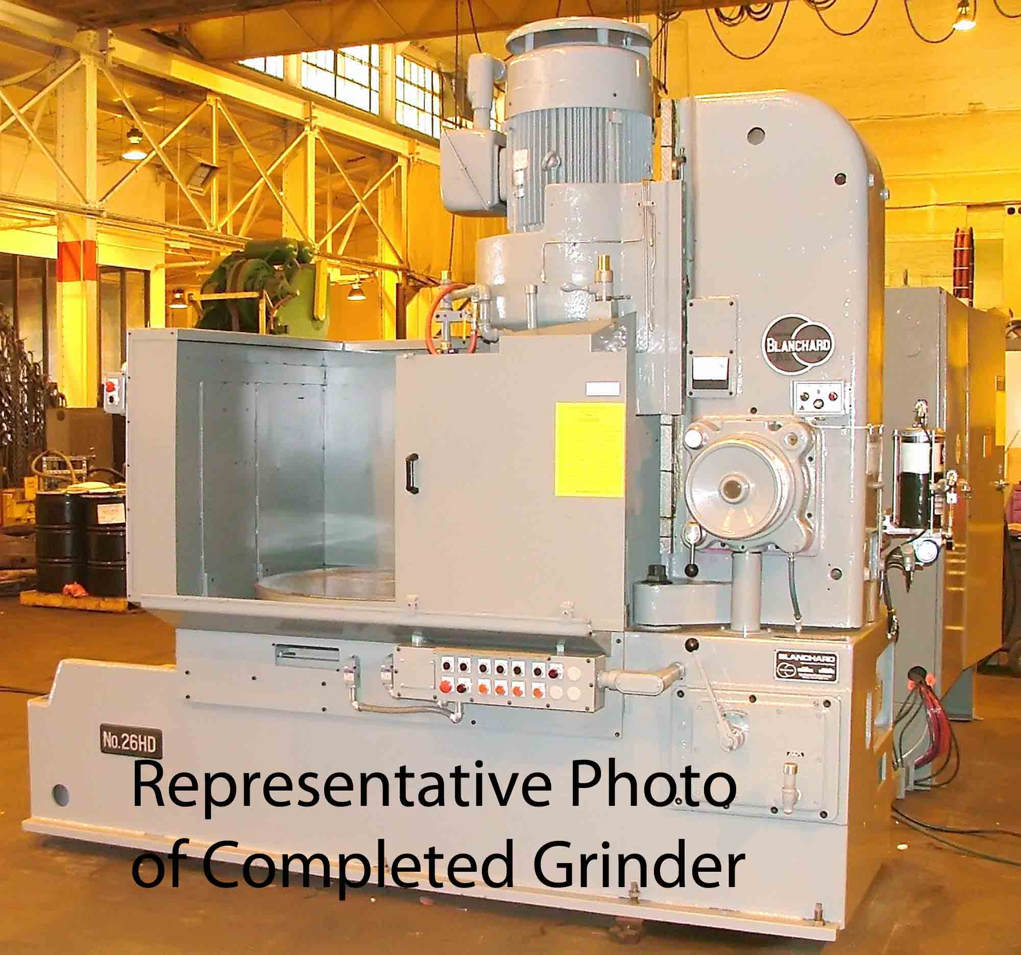 Blanchard #26HD-48, 48″ Geared Head Vertical Spindle Rotary Surface Grinder