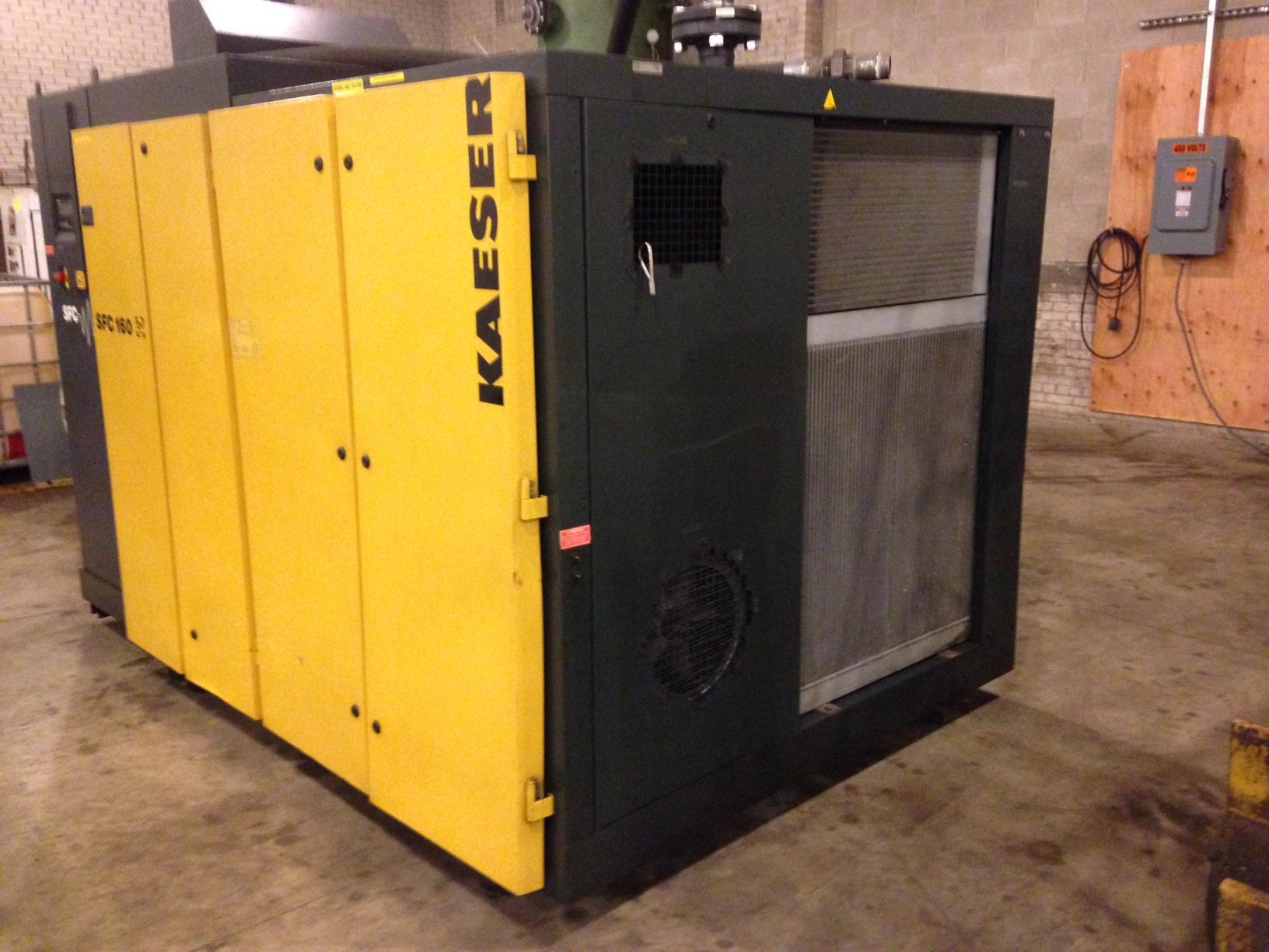 Kaeser 220 Hp Frequency Drive Rotary Screw air compressor