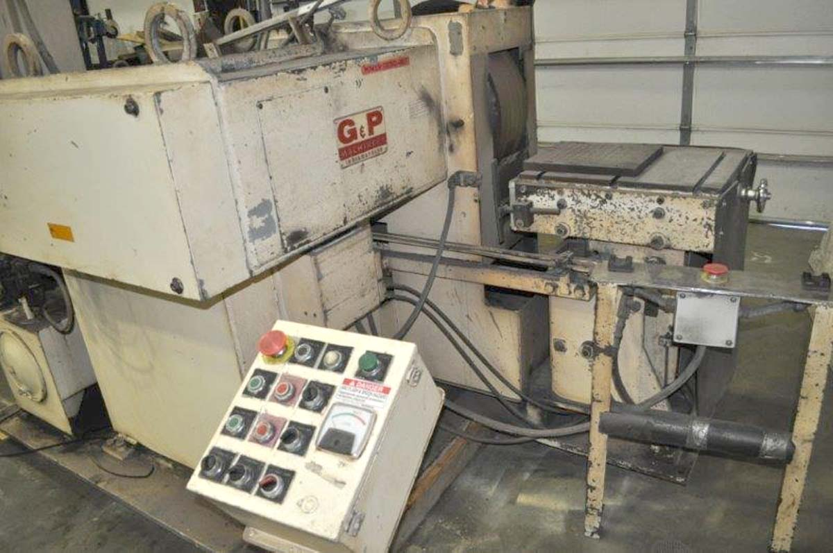 G & P Machinery 30 HP Double End Polishing Lathe, 1988