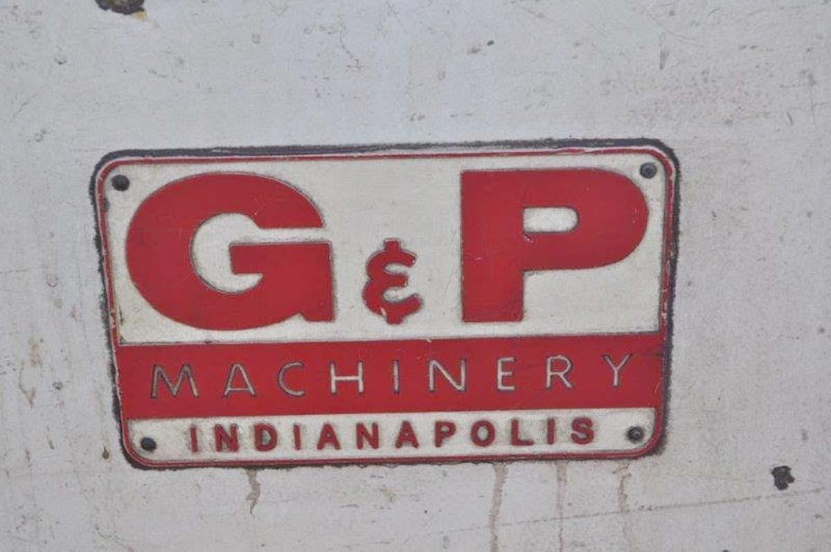 G & P Machinery 30 HP Double End Polishing Lathe, 1988