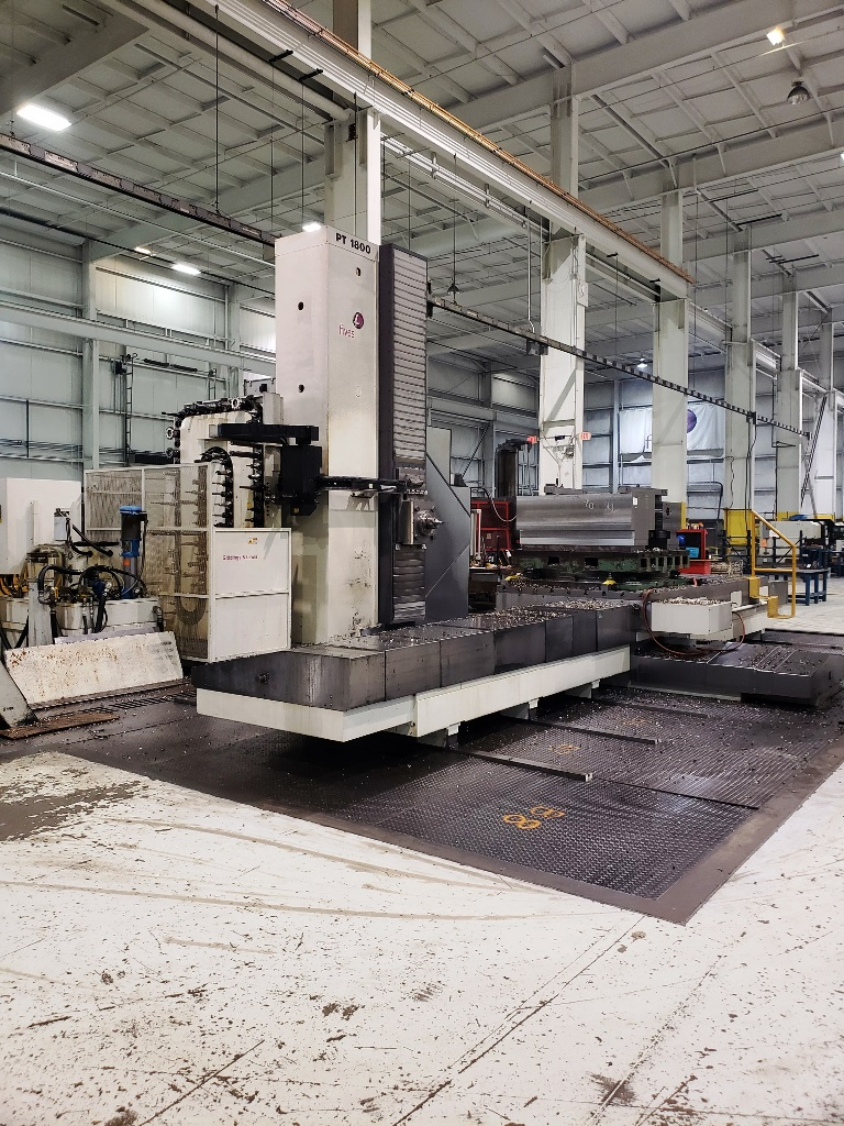 Giddings & Lewis 6.1″ PT1800 CNC Table Type Horizontal Boring Mill