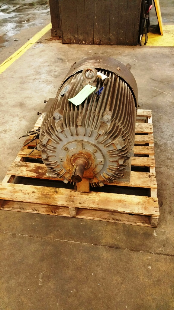 TECO 150 HP electrical Motor (for a Blanchard geared head  machine)