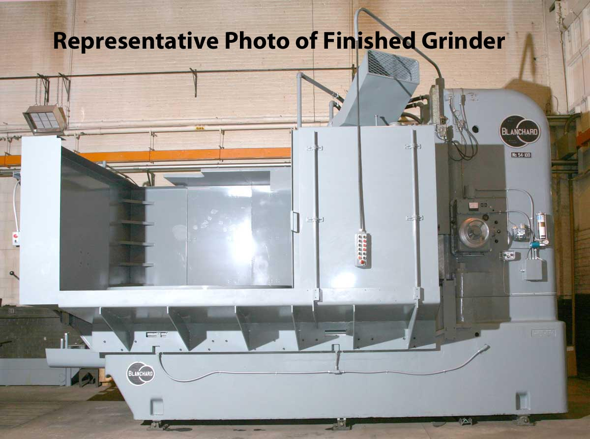 Blanchard #54-100, 100″ Vertical Spindle Rotary Surface Grinder
