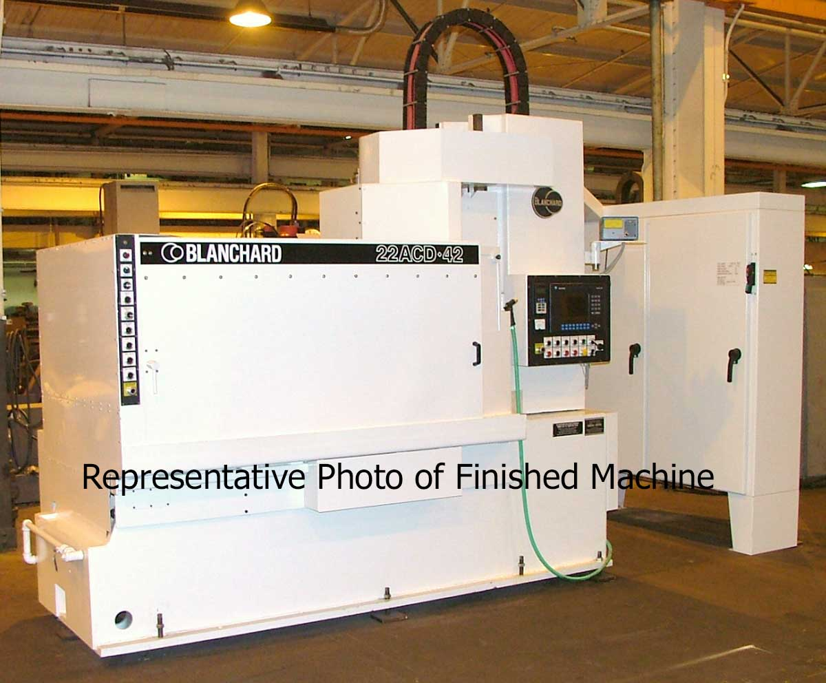 "Blanchard #22AD-42, 42"" Vertical Spindle Rotary Surface Grinder with  A/B PLC, Servo Drive, Re-manufactured w/ Warranty, 84'"