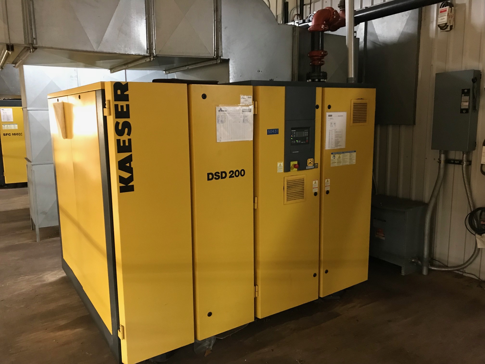 200 Hp Kaeser Rotary Screw Air Compressor