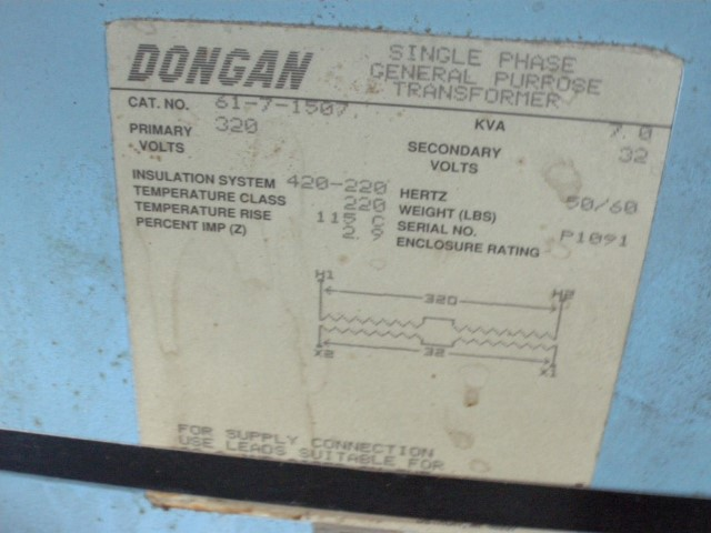 Dongan 7 kVA Single Phase Transformer