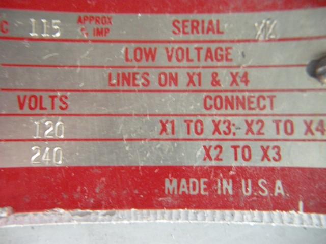 General Electric 15 Kva Single Phase Transformer G 2000 Inc