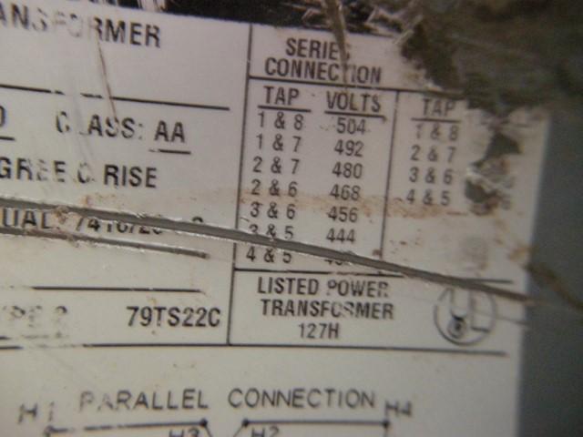 Square D 25 kVA Single Phase Transformer
