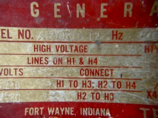 General Electric 7.5 kVA Single Phase Transformer