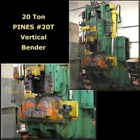 20 Ton PINES #20T Vertical Tube Bender