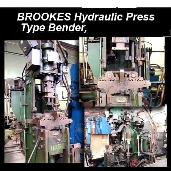 BROOKES #21491 Hydraulic Press Type Tube Bender
