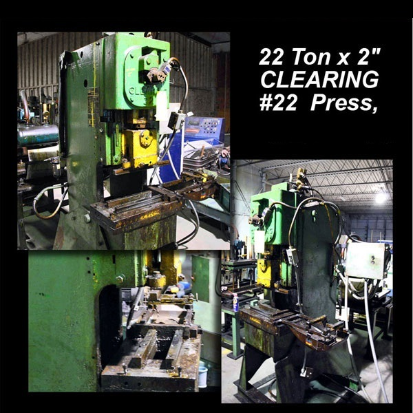 "22 Ton x 2"" CLEARING #22 Press"