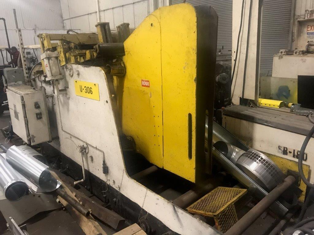 30,000 lb. Rowe Coil Cradle Straightener