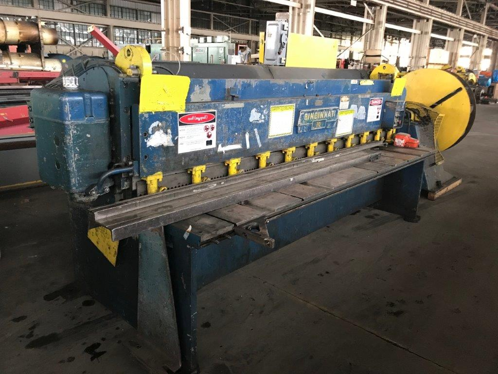 10 Ga x 10' Cincinnati Model 1010 Mechanical Shear