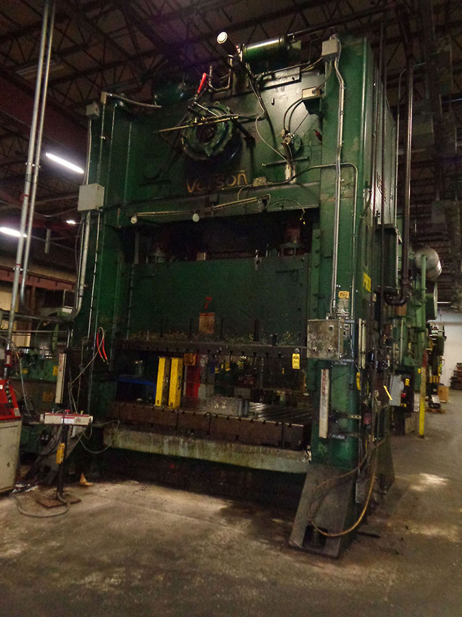 600-Ton Verson SSDC Press, Model S4-600-108-72T