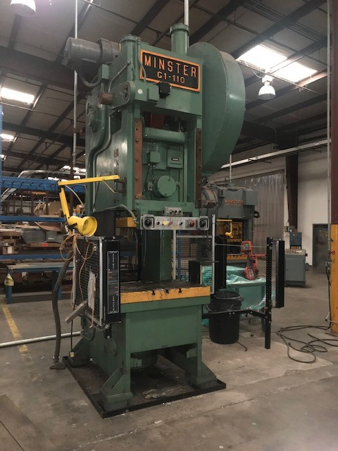 110 Ton Minster G1-110 Gap Frame Press