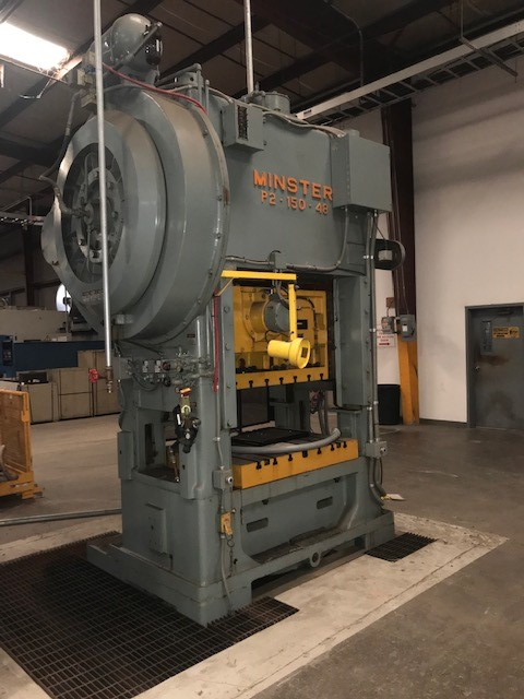150 Ton Minster P2-150-48 Straight Side Press