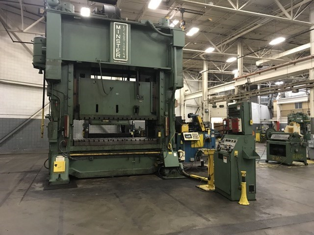 500 Ton Minster E2-500-108-54 Straight Side Press