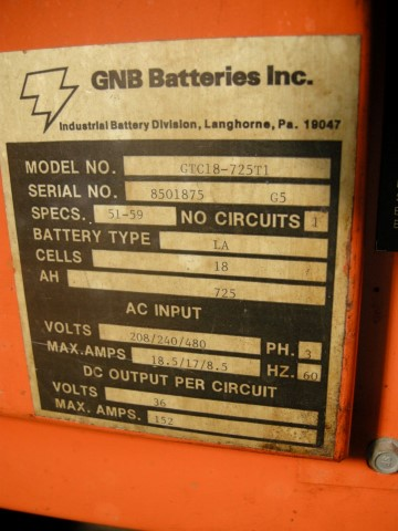 36 Volt GNB Ferrocharger Battery Charger