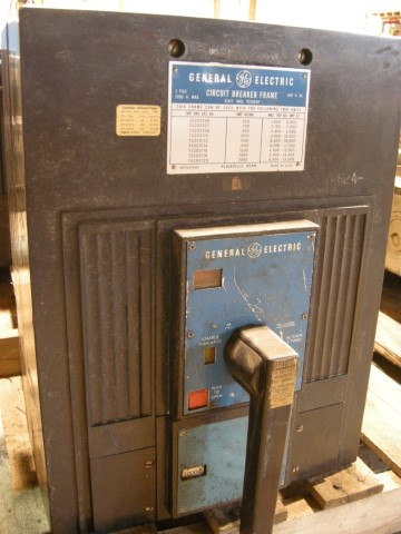2000 Amp General Electric TS203F Circuit Breaker Frame