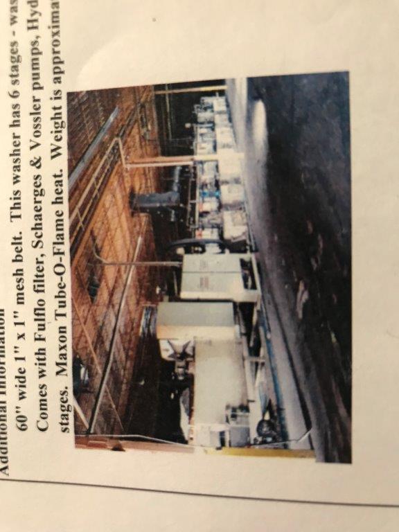 Cincinnati 6-Stage Stainless Steel Belt Washer/Dryer
