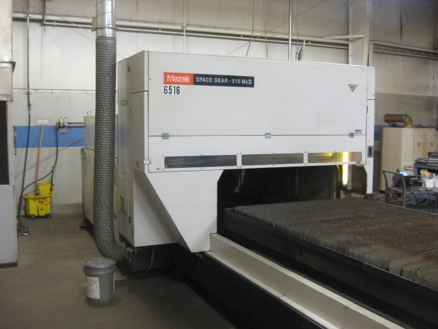 Mazak Space Gear 510MKII, 4000 watt, 5' x 10' table, 6-Axis