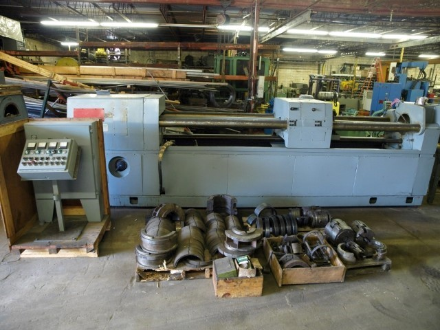 """12"""" Pines Roto Form 5-12 Roll Extrusion Bending Machine"""