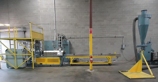 2001 Comac Twin Screw Extruder Pelletizing Line