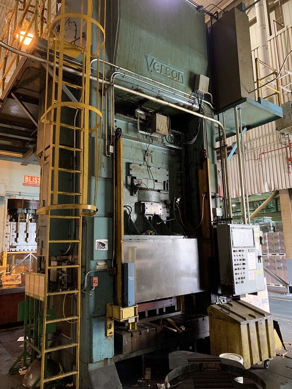 800 Ton Verson S1-800-72-72T Straight Side Press