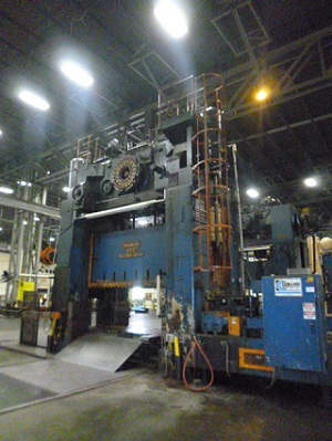 1000 Ton Danly S2-1000-132-54 Straight Side Press