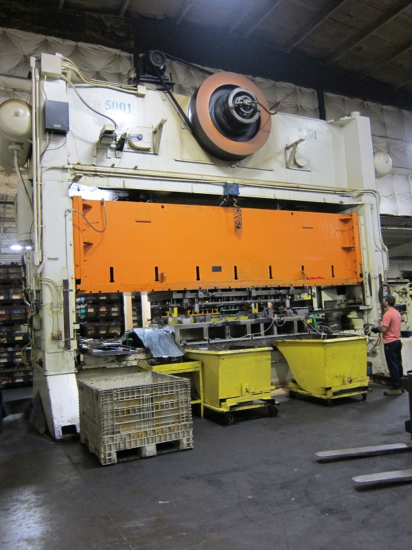 500 Ton Verson S2-500-240-60 Straight Side Press