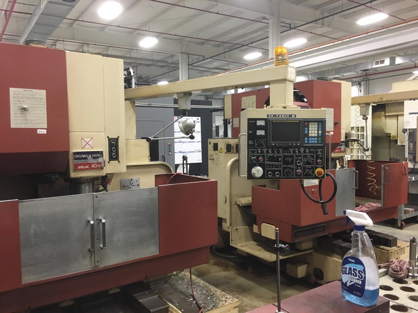 Okuma & Howa Milac 40V CNC Vertical Machining Center