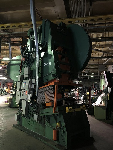 250 Ton Verson Inclined Gap Press