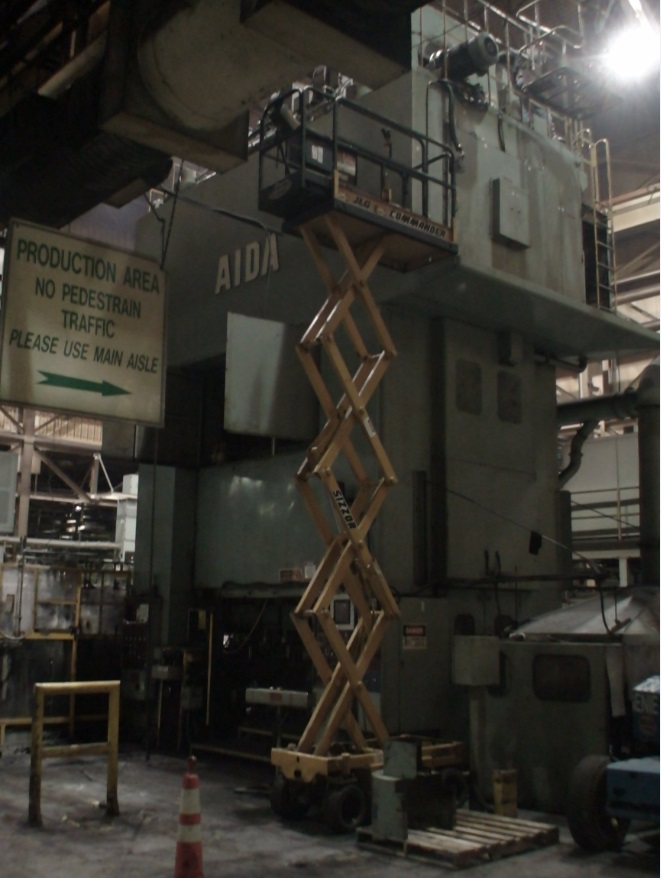 3000 Ton Aida Cold Forging Press
