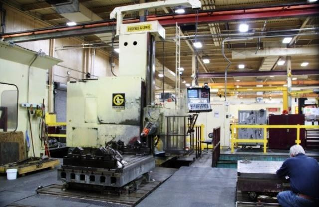 "6"" Giddings & Lewis CNC Floor Type Horizontal Boring Mill"