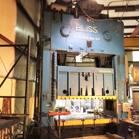 Bliss 300 Ton Four Point Press SE4 96 x 54