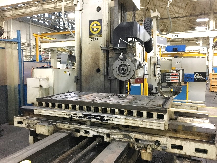 "5"" GIDDINGS & LEWIS G65-H5-T Horizontal Boring Mill W-DRO"