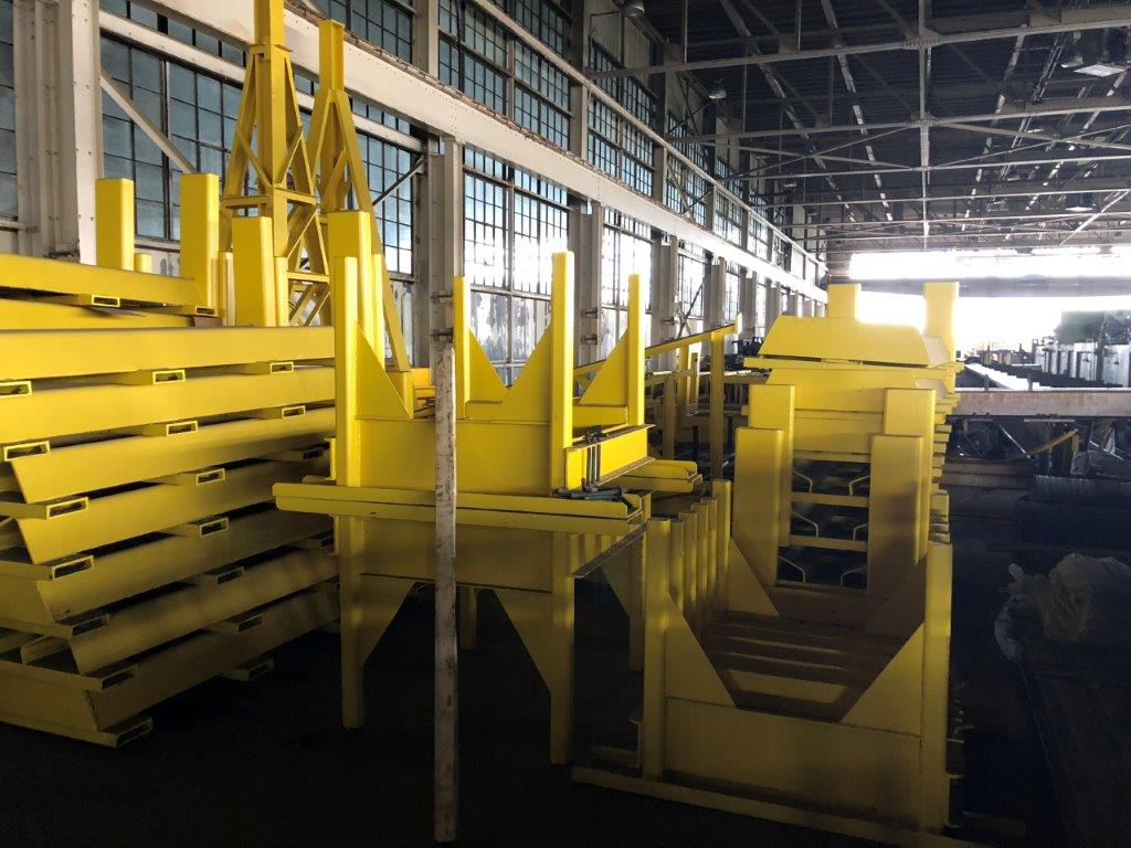 50 TON COIL STANDS. STOCK # 1057020