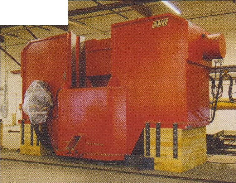 "8"" x 10' Davi CNC Hydraulic 3-Roll Variable Axis Plate Roll"